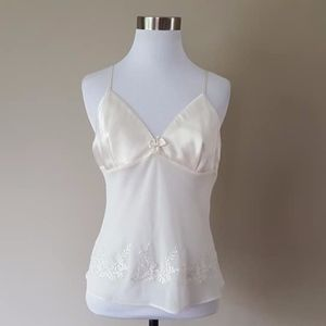 Tops - Camisole Small White Sheer Cami